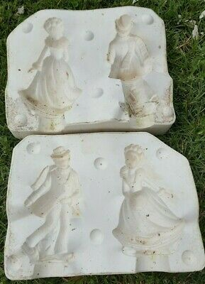 ceramic mold, ice skating couple