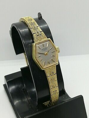 Ladies Manual Wind 17 Jewels Swiss Made Rotary Watch In Working Order
