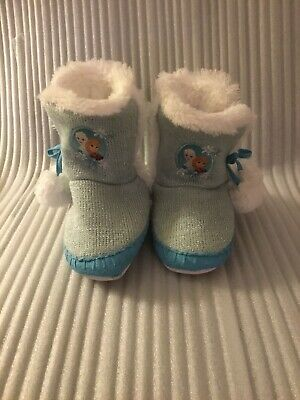 Frozen Elsa And Anna Boot/Slippers 11/12 Toddler