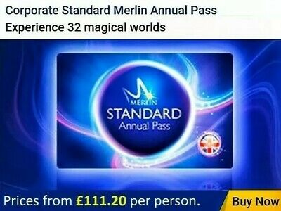 Merlin Annual Pass 20% Discount, Standard from £111.20 Spend £1.49 save £35.80+