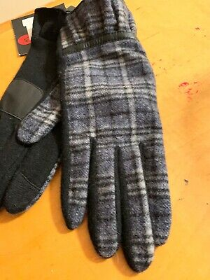 $59 Women's Echo Plaid Wool Cashmere Blend   Gloves Size Medium #504