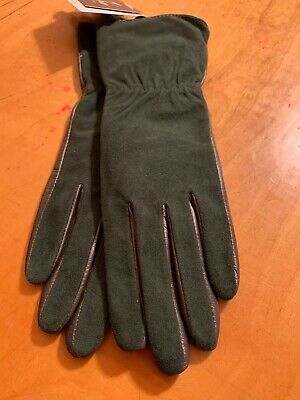 NWT Womens Echo Green Sheepskin  Gloves Small Touch #520