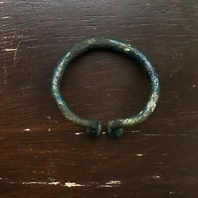 Ancient Viking Bronze RING - AMULET.