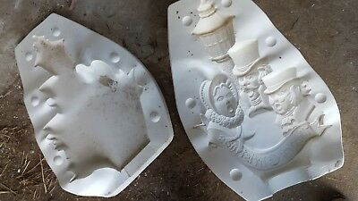 ceramic mold, Victorian Carolers