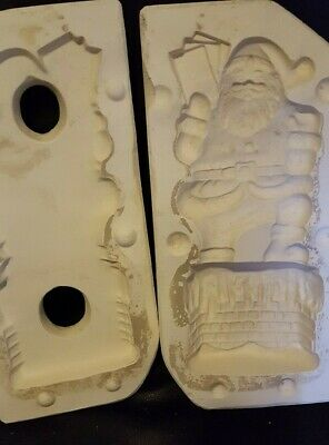ceramic mold, Santa on Chimney