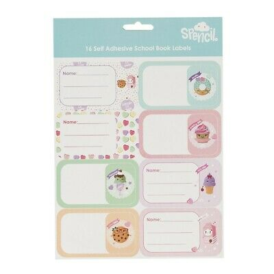 SPENCIL School Book Name & Subject Labels/Tags 16 Pack - Everyday Is A Sundae