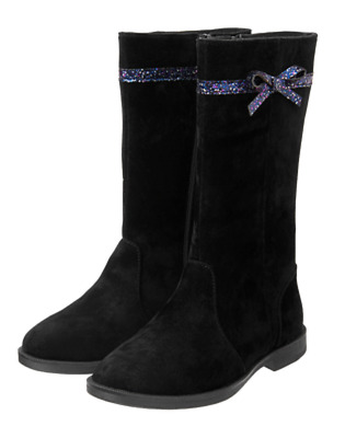 NEW GYMBOREE GIRLS BLACK FAUX SUEDE  BOOTS NWT SIZES 10  13