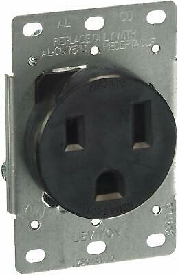 Leviton 5374-S00 50 Amp, 250 Volt, Flush Mounting Receptacle, Straight Blade, In