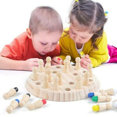 Wooden Child Memory Chess Board Game Educate Color Cognitive Ability Toys UK New