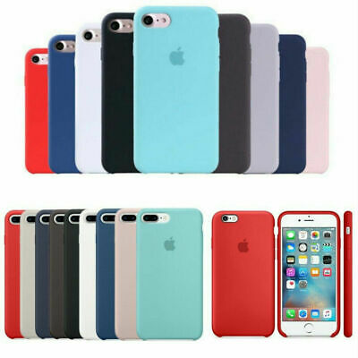 Original Silicona Genuina Case Funda Para Apple iPhone X XR XS Max 6 6S 7 8 Plus