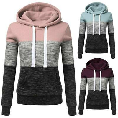 Womens Casual Hoodie Sweatshirt Ladies Hooded Long Sleeve Tops Jumper Pullover
