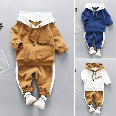 Toddler Kids Baby Boys Girls Bear Tops Pants Tracksuit Outfits Set Clothes 6M-4Y