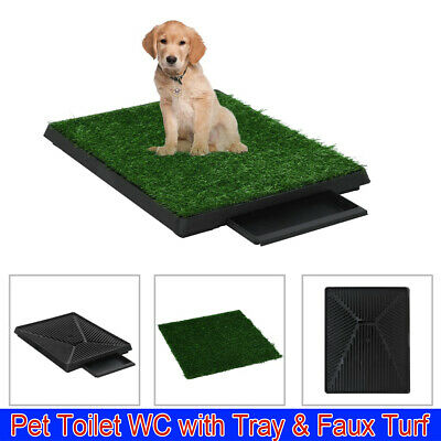 Pet Dog Toilet Mat Indoor Restroom WC Training Grass Potty Pad Loo Tray Puppy UK