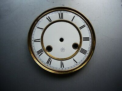 Antique German wall clock JUNGHANS two part Porcelain DIAL Mount Gustav Becker b