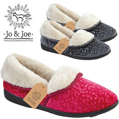 New Ladies Textile Fur Lined Winter Loafers Comfort Casual Moccasin Women Shoes