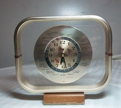 Vintage GMT KRUGER PRECISION World Clock - RED AIRPLANE Second Hand - Working