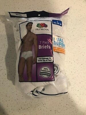 Fruit Of The Loom Mens 7-Pack Boxer Briefs Tagless 100% Cotton Dual Defense
