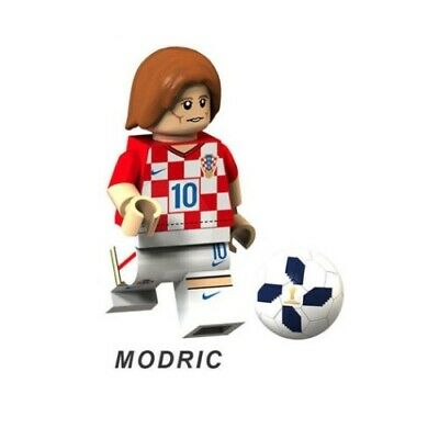 G3 - Modric Croatia Shirt - Custom Minifigure Gashapon LEGO - Nuovo in Blister