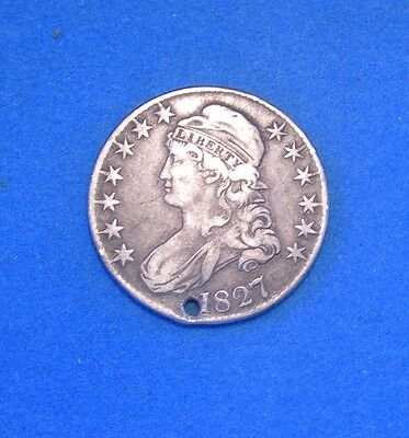 1827 Capped Bust Half Dollar xf Extra Fine condition 50c silver coin