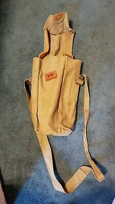 Vintage Gas Mask Bag Military Surplus Canvas Czech Gas Mask Carrying Case
