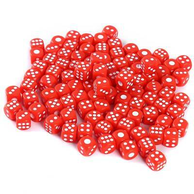 Dice 6 Sided 13mm 5 Colours Spot Dice Set For Dice Games  LA