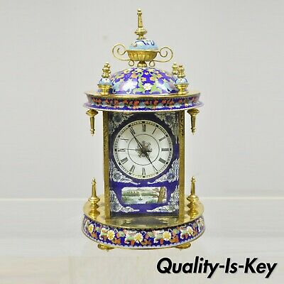 20th Century Chinese Cloisonne French Style Enamel Mantle Clock