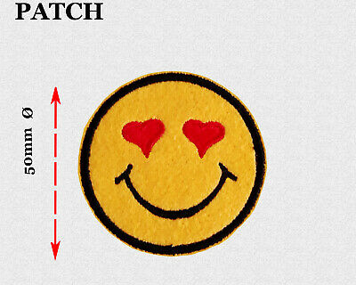 Aufbügler♥ Bügelmotiv♥Applikation Patch♥ 2er Set Smiley m.Klettverschluss♥NEU