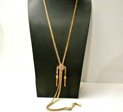 Necklace Antique Catch Borbonica Gold Solid 9K Traditional Fine Ottocento