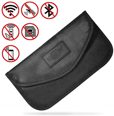 MONOJOY Large Faraday Bag, Faraday Pouch for Car Keys, Car Key Signal Blocker,