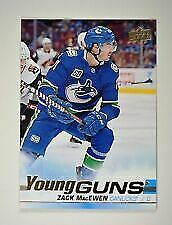 2019-20 UD Series 1 Young Guns YG #244 Zack MacEwen - Vancouver Canucks