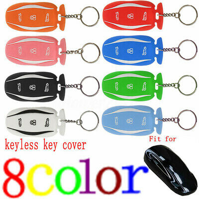 Pink Car Remote Key Fob Cover Case Holder Skin Shell Fit For Tesla Model S X