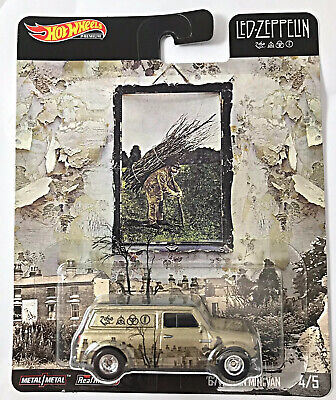 NEW 2019 Hot Wheels Premium Pop Culture E Case Led Zeppelin 67 Austin Mini Van