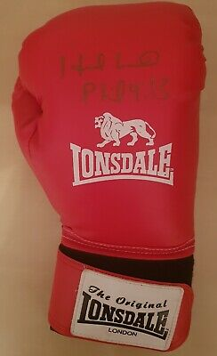 EVANDER HOLYFIELD In Person Signed BOXING Glove HEAVYWEIGHT World Champion  COA