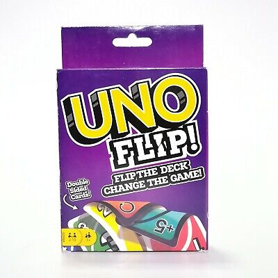 UNO Flip Card Game Double Sided Wild Original Classic Party Favor Friend Family