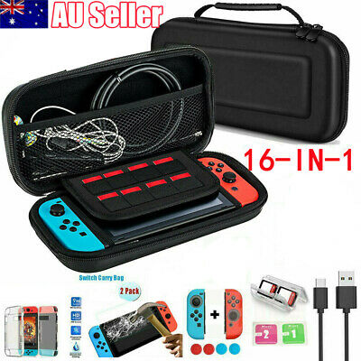 For Nintendo Switch Travel Carrying Case Bag Screen Protector Cover Accessories