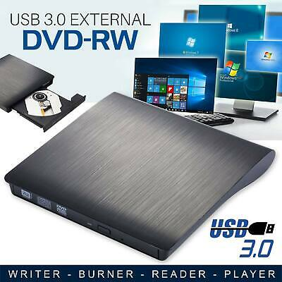 USB 3.0 Slim Portable External DVD-RW CD-RW Drive Burner Reader Player AU