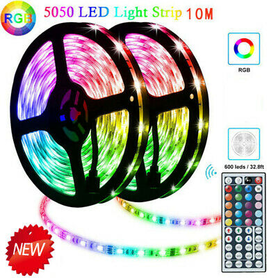 5-10m Multi 5050 Color Changing Rope Flexible Light RGB led Strip +44Key Remote