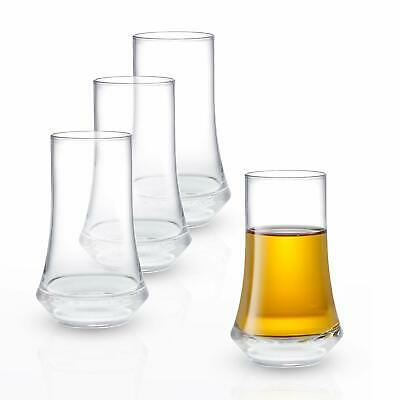Cosmos Collection Crystal Shot Glass - Set of 4 Modern Shot Glasses - Tequila...
