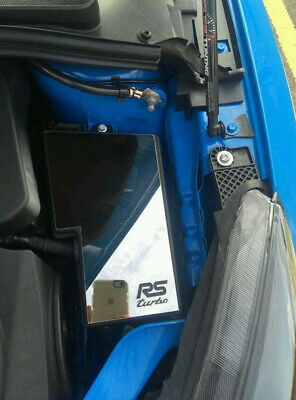 Ford Focus RS mk2 and mk3 polished stainless steel fuse box cover
