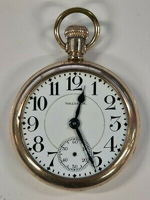 Waltham Model 645, 21 Jewel, 16S railroad pocket watch needs attention (works)