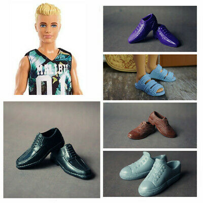 5 Pairs Ken Doll Shoes Sneaker Boot Slipper High Quality For Barbie Boyfriend