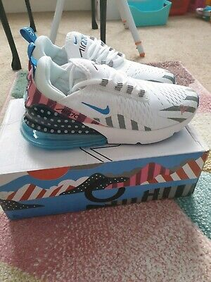 NIKE AIR MAX 270 flyknit Parra Trainers With Defects 40eu