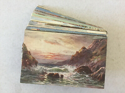 Vintage Tuck's Postcards Paintings Cornwall Ceylon Porto Rico Assorted Lot of 89