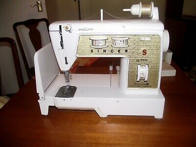 Vintage Singer 760 Sewing Machine Foot Pedal Extras Superb Condition  Serviced