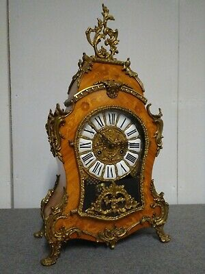 Cartel mantel clock, Italian - Boulle style, Louis XV - German Hermlé movement