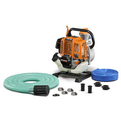 Generac 6917 - CW10K 1'' Clean Water Pump with Hose Kit, 30 GPM - 49 State/CSA
