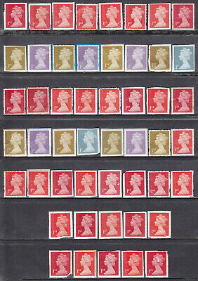 50 x 1st Class Unfranked Stamps On Paper With Faults Face Value £35.00 04f