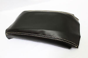 Fits 94-04 Ford Mustang Synthetic Leather Armrest Console Cover White Stitch