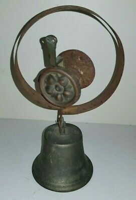 Original Antique Butlers Maid Shopkeeper Brass Door Bell