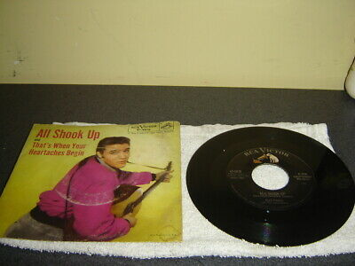 Elvis Presley All Shook Up With Picture Sleeve Rock 45 Rca 47- 6870